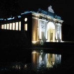 The Menin Gate Ypres, Belgium. This memorial bears the names of nearly 55,000 men killed in the First World War with no known grave. Every evening at 8.00pm since it's inaugaration buglers from the local Volunteer Fire Brigade play the last post.